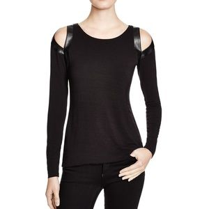 Anthropologie Bailey 44 High Art Slit Shoulder Top